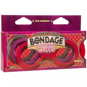 Japanse Bondage Siliconen Handboeien Rood Verpakking BDSM SM