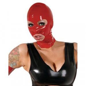 Latex Hoofdmasker Rood Voorbeeld BDSM