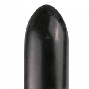 All Black Dildo 22.5 cm Zwart Close Up XXL