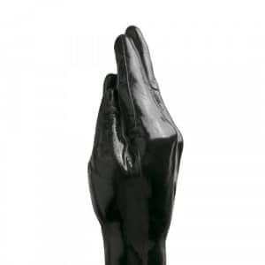 Fisting Dildo 39 cm Zwart Close Up Fist