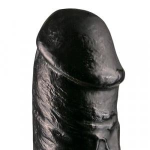 Realistische Dildo 29 cm Zwart Close Up