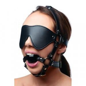 Kunstleren Masker Met Ball Gag BDSM Voorbeeld