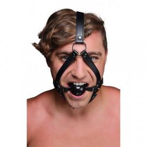 Hoofd Harnas Met Ballgag Voorbeeld BDSM