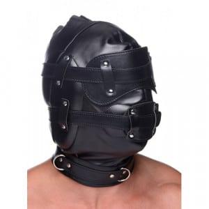 Bondage Masker Met Penis Gag Voorbeeld