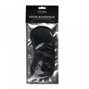 Zwart satijnen oogmasker bondage verpakking