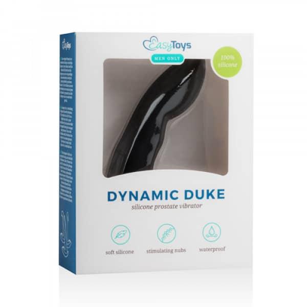 Dynamic Duke Prostaatvibrator - Zwart - Easytoys Men Only