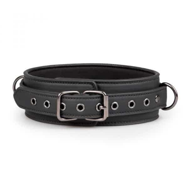 Fetish halsband met riem bondage liggend voorkant
