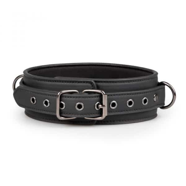Fetish set met halsband, enkelboeien en handboeien voorkant