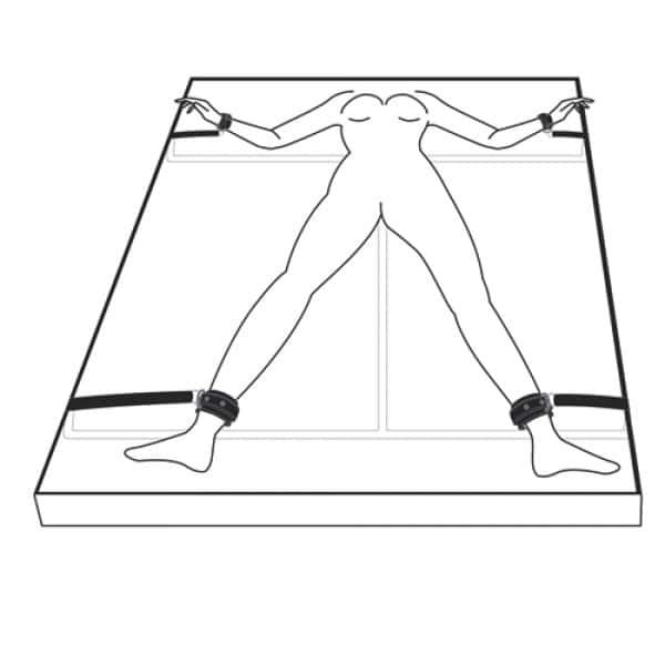Under Mattress Restraint Set Bondage Handboeien Voorbeeld