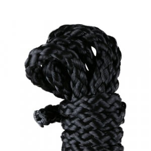 Kinbaku touw, mini - 1,5 meter zwart close up bondage BDSM