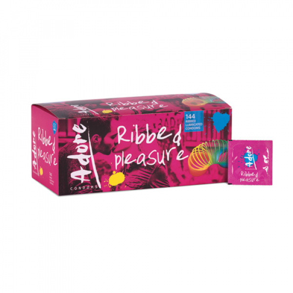 Adore Ribbed Pleasure condooms 144 stuks - Pasante