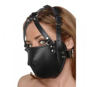 Strict Leather Face Harness Bondage Voorkant