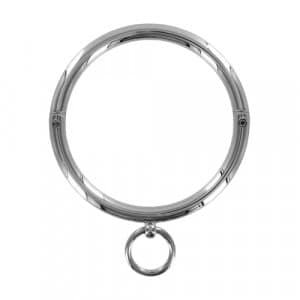 Stalen halsband met ring bondage BDSM voorkant