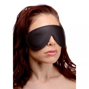 Strict Leather Padded Blindfold Voorbeeld Maskers