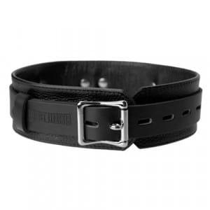 Strict Leather Deluxe Collar Liggend Voorkant BDSM Bondage Halsband