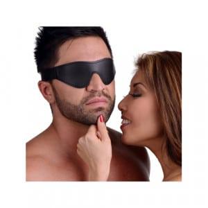 Strict Leather Velcro Blindfold Bondage Maskers Voorbeeld