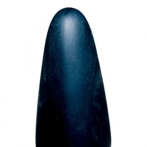 True Black Vibrating Anal Plug Close Up