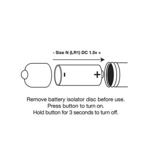 Single Speed Bullet Mini Vibrator Champagne Batterij