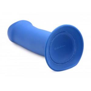 Squeeze-It Dikke Dildo Zuignap Blauw Onderkant