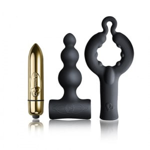 Be Mine Black Silhouette Set Overzicht Cockring Bullet Vibrator