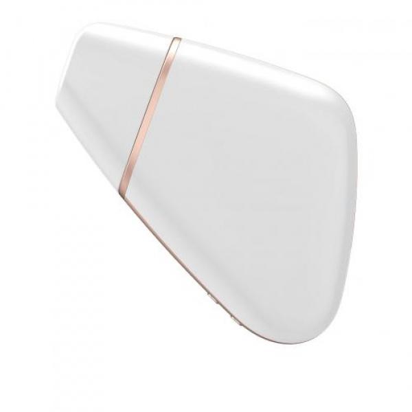 Love Triangle White Clitors Vibrator Achterzijde