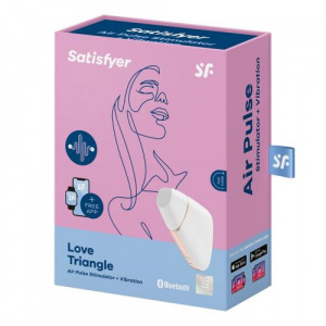 Love Triangle White Clitors Vibrator Verpakking