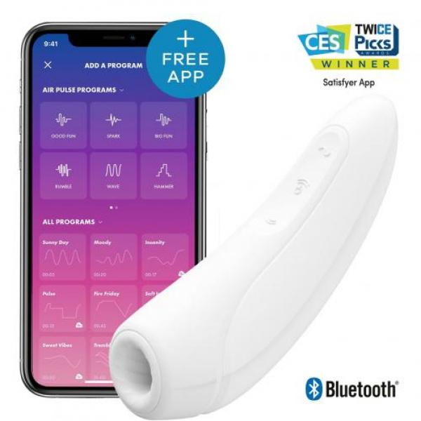 Satisfyer Curvy 1+ Wit Clitoris Vibratie App