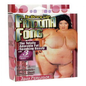 Sekspoppen Fatima Fong opblaaspop Verpakking