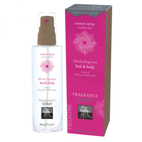 Feromonen Bed & Body Spray Voor Vrouwen - Kers & Witte Lotus - Shiatsu