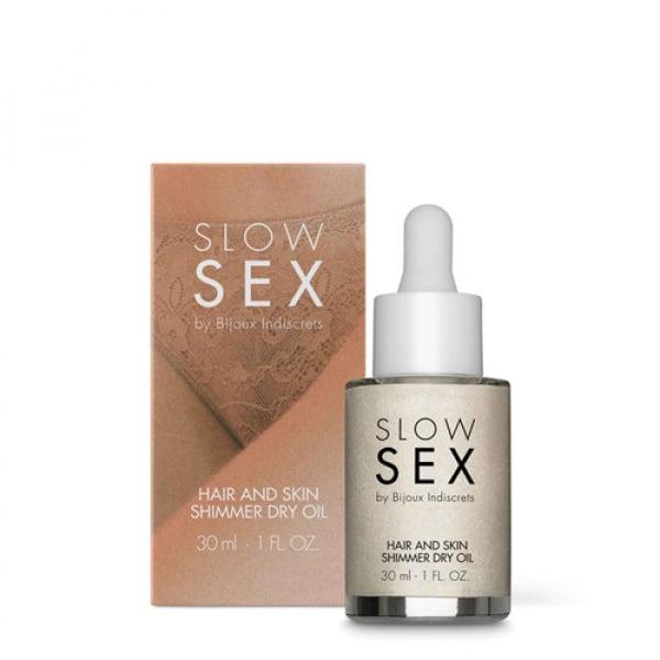 Droge Glinster Olie Voor Huid & Haar - 30 ml - Slow Sex