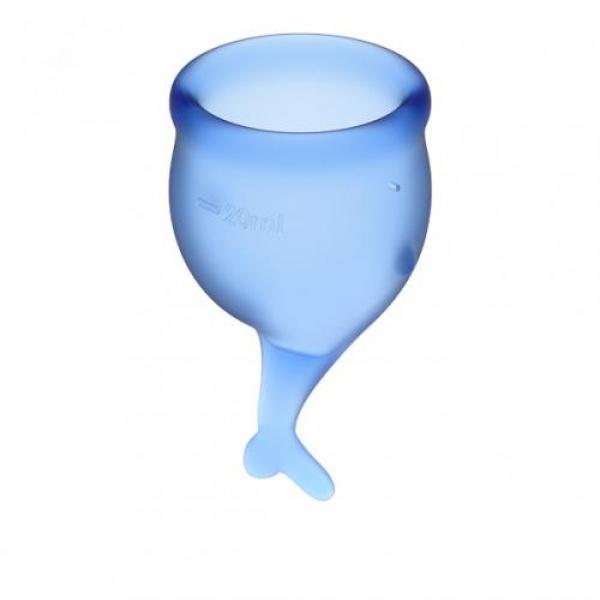 Satisfyer Feel Secure Menstruatie Cup Set - Blauw - Satisfyer